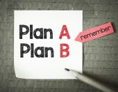 Note with plan A and plan B — Stock Photo