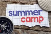 Note with summer camp — Stock Photo