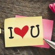 Note with I love you — Stock Photo #63837889