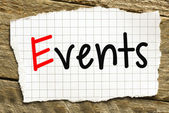 Note with events — Stock Photo