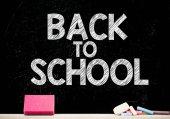 Zpátky do školy na tabuli — Stock fotografie