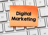 Memo with digital Marketing — Foto Stock