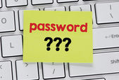 Memo with password ??? — Stock Photo