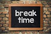 Break time on Blackboard — Stock Photo