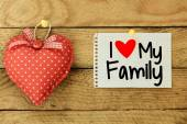 I love my family Card with heart — ストック写真