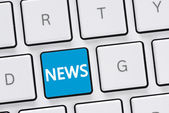 Computer keyboard with news — Foto Stock