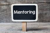 Mentoring  on framed blackboard — Stockfoto
