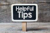 Helpfull tips on framed blackboard — Stockfoto