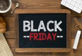 Black friday handwritten on  blackboard — Foto de Stock