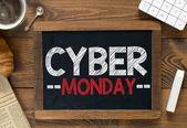 Cyber monday handwritten on  blackboard — Foto de Stock
