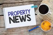 Notebook with property news — Stock Photo