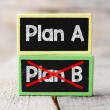 Plan A or Plan B blackboards — Stock Photo #67307441