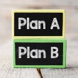Plan A or Plan B blackboards — Stock Photo #67307443