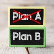 Plan A or Plan B blackboards — Stock Photo #67307445
