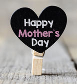 Happy mother's day on  heart — Photo