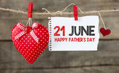 Happy Fathers Day message — Stock Photo