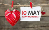 Happy mother's day  with heart — Stock Photo