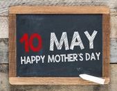 Happy mother's day on blackboard — Stock Photo