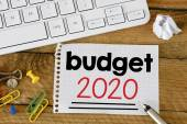 Budget 2020 Sign with pen — Stock Photo