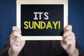 It's sunday on blackboard — Stock Photo