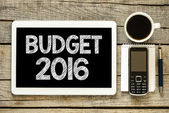 Budget 2016  on tablet pc — 图库照片