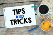 Notitieboekje met tips en trucs — Stockfoto