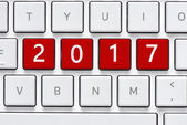 Keyboard with 2017  button — Stockfoto