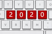 Keyboard with 2020 button — Stock Photo