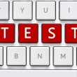 Keyboard with test button — Stock Photo #69142507