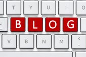 Keyboard with blog button — Stock fotografie
