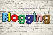 Blogging sign on  background — Zdjęcie stockowe