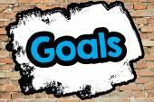 Goals word On brick wall — Foto Stock
