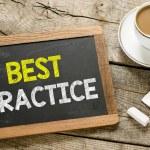 Best practice  On blackboard — Stock Photo #69888855