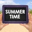 Blackboard with summer time — Stock Photo #69958601