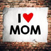 Paper with I love mom — Stockfoto