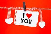 Messaggio scritto che ti amo — Foto Stock
