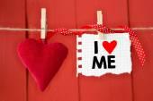 Message written I love me — Stock Photo