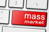 Keyboard with  button mass market — Stock Photo