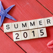 Scrabble letters  with Summer 2015 — Stock Photo #70189935
