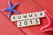 Scrabble letters  with Summer 2015 — Stock Photo