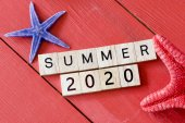 Scrabble letters  with Summer 2020 — Stock Photo