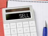 Calculator with sell word — Stock Photo