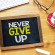 Постер, плакат: Never give up on Blackboard