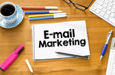 E-mail marketing and cup of coffee — Stock Photo
