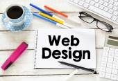 Web design and  cup of coffee — Stock Photo