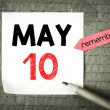 Note with 10 may — Stock Photo #71068537