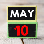 May 10  on blackboards — Stock Photo #71069729