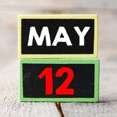 May 12  on blackboards — Stock Photo