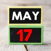May 17 on blackboards — Stock Photo