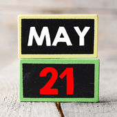 May 21 on blackboards — Stockfoto